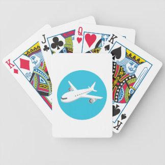 Flugzeug-Cartoon Bicycle Spielkarten