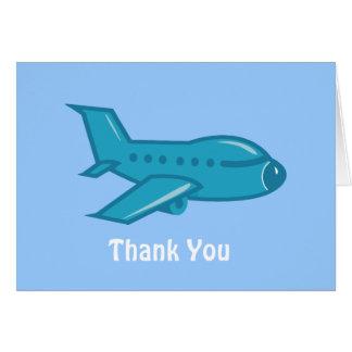 Flugzeug danken Ihnen zu kardieren Karte