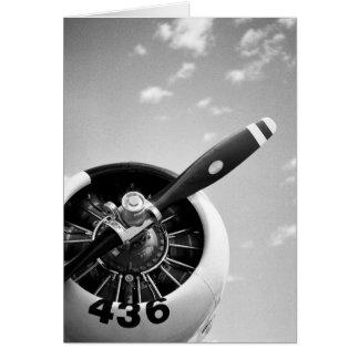 Flugzeug des Kämpfer-WW2 Grußkarte