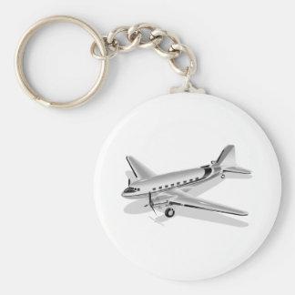 J And J Transport Stonehenge Flugzeug Douglas DC-3 Standard Runder Schlüsselanhänger