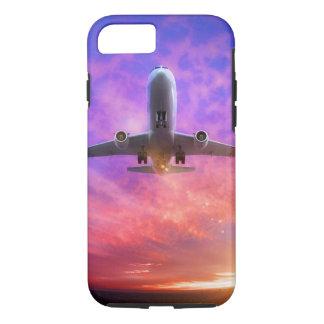 Flugzeug entfernen Fliegen-Sonnenuntergang iPhone 8/7 Hülle