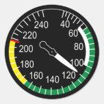 Flugzeug-Fluggeschwindigkeits-Indikator Runder Sticker