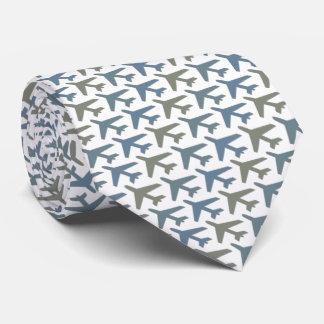 Flugzeug-Flugzeug Avion Kapitän Tie Armani Grey Krawatte