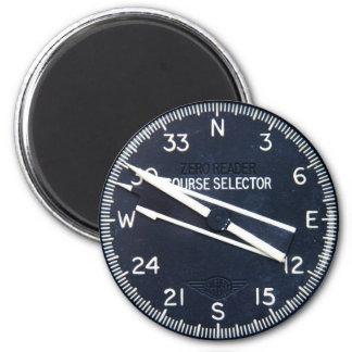 Flugzeug-Flugzeug-Fliegen-Flug-Kurs-Instrument Runder Magnet 5,7 Cm