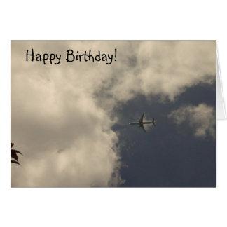 Flugzeug-Geburtstags-Karte! Grußkarte