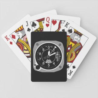 Flugzeug-Höhenmesser Spielkarten