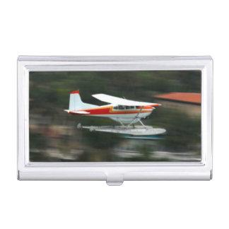 Flugzeug im Bewegungs-Foto Visitenkarten Etui