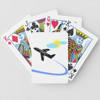 Flugzeug im fligh bicycle spielkarten
