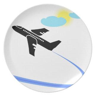 Flugzeug im fligh teller