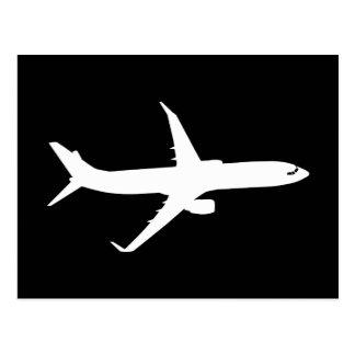 Flugzeug-Jet-Zwischenlagen-Silhouette, die Postkarte