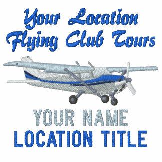 Flugzeug-klassisches Cessna-kundenspezifisches Besticktes Shirt