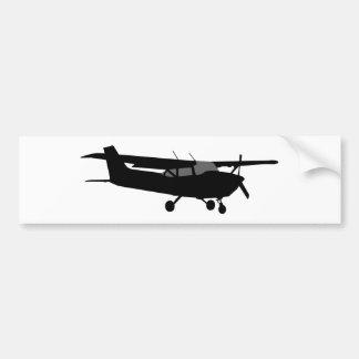Flugzeug-klassisches Cessna-Silhouette-Fliegen Autoaufkleber