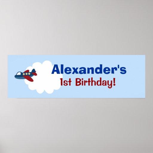 Flugzeug-kundenspezifischer Geburtstags-Fahnen-Pla Plakatdruck