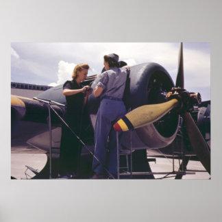 Flugzeug-Mechaniker der Frauen-WW2 Poster