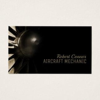 Flugzeug-Motor-Flugzeugmechaniker-Geschäfts-Karte Visitenkarte