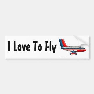 """""""Flugzeug-Passagier-Jet-Flugzeug, i-Liebe zu flieg Autosticker"""