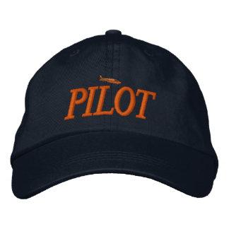 Flugzeug-Pilot gestickter Hut