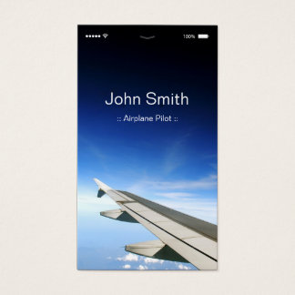 Flugzeug-Pilot - kundengerechte flache UI Art Visitenkarte