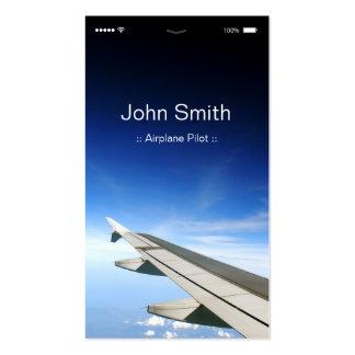 Flugzeug-Pilot - kundengerechte flache UI Art Visitenkarten