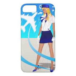 Flugzeug-Reise des Flugbegleiter-PNC Boeing Airbus iPhone 8/7 Hülle