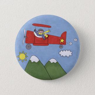 Flugzeug Runder Button 5,1 Cm