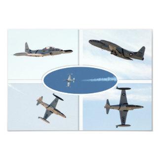 Flugzeug-Set des Schießen-P-80 des Stern-5 8,9 X 12,7 Cm Einladungskarte