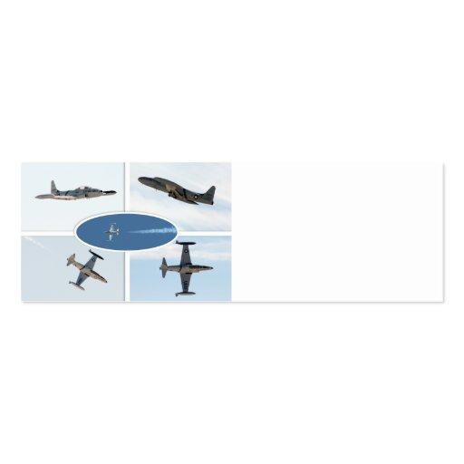 Flugzeug-Set des Schießen-P-80 des Stern-5 Visitenkarten Vorlagen