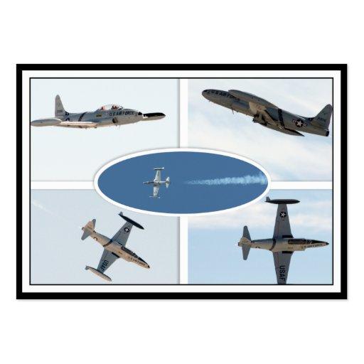 Flugzeug-Set des Schießen-P-80 des Stern-5 Visitenkartenvorlagen
