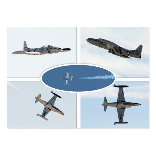 Flugzeug-Set des Schießen-P-80 des Stern-5 Visitenkartenvorlage