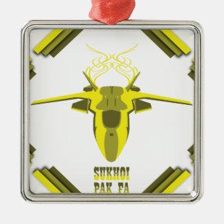 Flugzeug Silbernes Ornament