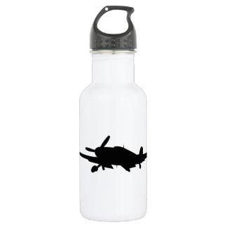 Flugzeug silouette edelstahlflasche