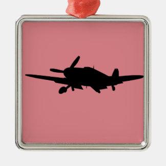 Flugzeug silouette silbernes ornament