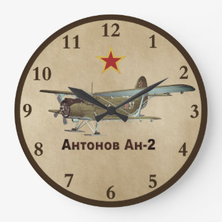 Flugzeug Sowjet-Antonows AN-2 Große Wanduhr