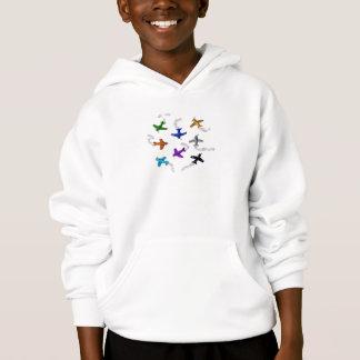 Flugzeug-Sweatshirt Hoodie