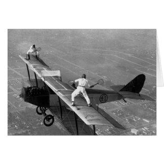 Flugzeug-Tennis-Gruß-Karte Grußkarte