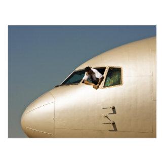 Flugzeug u Pilot Postkarten