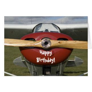 Flugzeug-Versuchsalles- Gute zum Geburtstagkarte Karten
