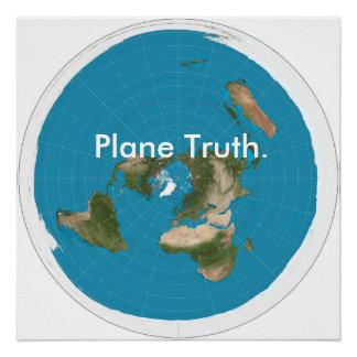 """""""Flugzeug-Wahrheit """" Poster"""