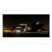Flugzeuge nachts postkarte