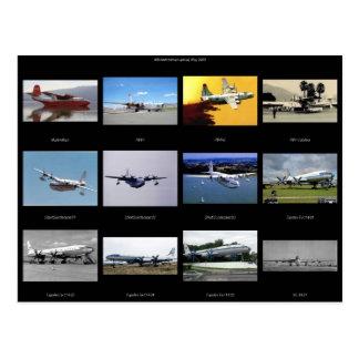 Flugzeuge Postkarte