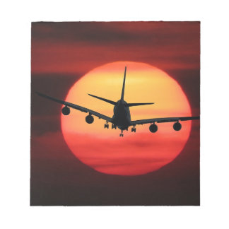 Flugzeuge Sun Notizblock
