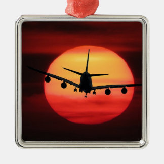 Flugzeuge Sun Silbernes Ornament