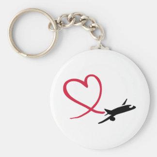 Flugzeugherz-Liebe Schlüsselanhänger