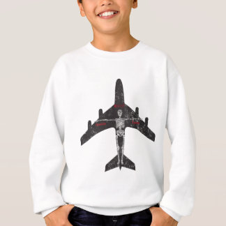 Flugzeugskelett Austins Texas Sweatshirt