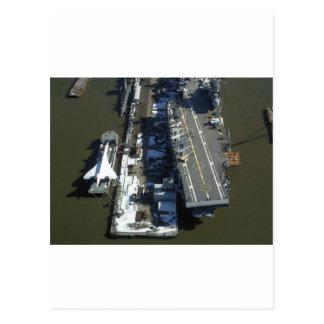 Flugzeugträger furchtloses New York City Postkarte