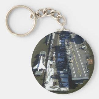 Flugzeugträger furchtloses New York City Standard Runder Schlüsselanhänger
