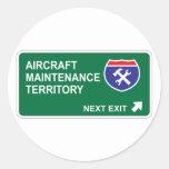 Flugzeugwartungs-folgender Ausgang Sticker