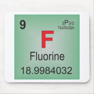 Fluor-einzelnes Element des Periodensystems Mauspads