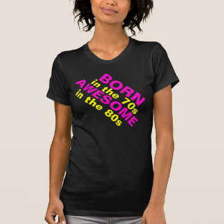 Fluro Rosa und gelbes fantastisches 80er-Shirt T-Shirt