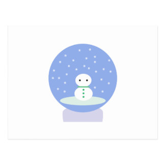 Flurrball Schnee-Kugel Postkarte